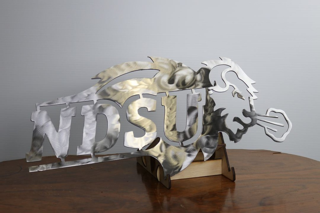 NDSU sign - Metal (Siver) - side 1