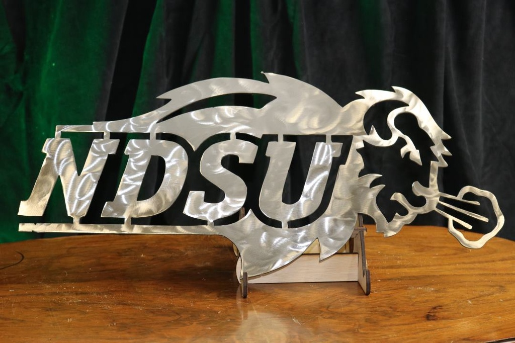 NDSU sign - Metal (Siver) - green